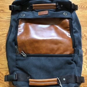 BRAND NEW! Versatile backpack, briefcase, duffle.
